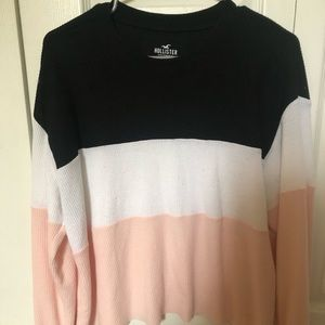 Color blocked long sleeve top